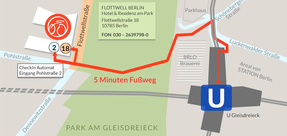 FLOTTWELL BERLIN Hotel - Lage
